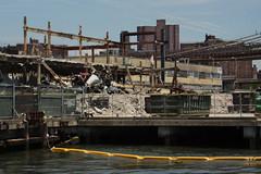Deconstruction (lefeber) Tags: city nyc newyorkcity urban newyork architecture fence buildings rust downtown waterfront demolition atlanticocean beams deconstruction rustymetal
