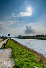 Deinze__De Vaart 2 (Astrid Callens) Tags: regenboog rainbow brug vaart kromme deinze kolibreeze astridcallens bananenbrug