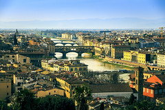 Florence in sunlight (Arutemu) Tags: city italy canon florence europe italia european cityscape view ciudad tuscany vista firenze toscana tamron ville  6d 28300    piazzalemichelangelo     tamron28300   canon6d