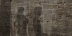 The Encounter III (Carla Putnam) Tags: woman man silhouette wall shadows silhouettes meeting encounter