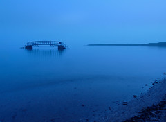 The bridge to nowhere (blue) (kenny barker) Tags: bridge scotland bluehour dunbar bellhavenbay kennybarker