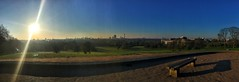 (Matt Brock ) Tags: panorama sun london bench landscape cityscape hill bluesky lensflare primrosehill sunbeams urbanlandscape williamblake mobilephotography iphoneography thespiritualsun