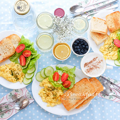 Weekend Brunch at Home (trueforever) Tags: food coffee breakfast dish tea indoor blueberry meal eggs brunch breads styling hearty