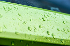 #116 in 2016 - Wet (Chris Scopes) Tags: green rain april raindrops wetcar creativechallenge
