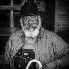 Market Man (Jim-Mooney) Tags: street portrait people blackandwhite bw white black monochrome photography mono blackwhite fuji market candid monotone kansascity fujinon xt1 50140mm