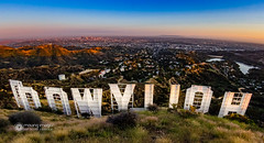 Behind the Scenes in Hollywood (hallockmovingimages) Tags: california sunset cali losangeles downtown outdoor wideangle hike hollywood downtownla hollywoodsign griffithpark behindthescenes tinseltown hollywoodreservoir mtlee cahuengapeak hughhefneroverlook cahuengapeaktrail