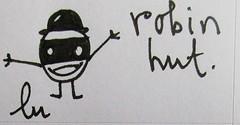 robin hat (lu.glue) Tags: urban bw streetart art smile sticker arte basel statement sw creature hurray lu autocollant kleber fineliner luglue