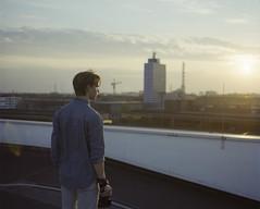 Max. (Christian Nbling) Tags: sunset 120 skyline mediumformat fuji hasselblad 6x7 duisburg ruhrgebiet xpan plaubel hasselbladxpan ruhrpott makina fujipro400h plaubelmakina67
