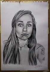 Dibujo (Tavinci) Tags: portrait art lady sketch arte retrato lapiz draw dibujo realismo