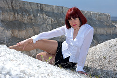 DCS_0018 (dmitriy1968) Tags: portrait cliff nature girl beautiful erotic outdoor wife quarry    sexsual