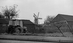 Burgh Le Marsh scene (col-h) Tags: tractor building windmill sign 35mm forsale lincolnshire lincoln changes development windpower pasttimes burghlemarsh asitwas