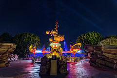 Disneyland: Entrance to Tomorrow and the Neon Lights (Jessie Chaisson) Tags: colors jessie night photography lights nikon neon disneyland entrance astro tomorrowland orbiter chaisson