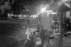 (kuuan) Tags: street ltm bw girl look night canon 50mm kid child f14 rangefinder grandpa vietnam mf manualfocus danang 1450 m39 f1450mm ilce7 canonltmf1450mm