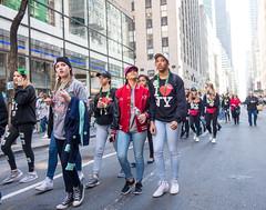Side eye (UrbanphotoZ) Tags: nyc newyorkcity ny newyork green hat beads manhattan sneakers midtown jeans cap cowboyhat glance stpatricksday iheartny marchers sideeye