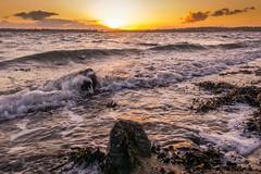 Perfekte Welle (rahe.johannes) Tags: wasser sonnenuntergang baltic steine ostsee welle kiel schleswigholstein bal frde kitzeberg