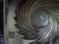 Mirror in Burned House (nickrobb1989) Tags: house selfportrait black mirror sad smoke charcoal disaster burned