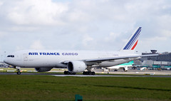 Air France Cargo 777-F28 F-GUOB. 23/04/16. (Cameron Gaines) Tags: from ireland dublin usa chicago paris france grass clouds america cn being air capital first august before terminal cargo via april after 28 boeing february 9th 2008 ord runway 24th 2009 dub freight entering pariscdg foxtrot departing cdg arriving earlier flew kord delivered 77f ge90 32965 eidw 777f n5023q 777200f fguo fguob 777f28