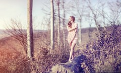 Spring fairy (hispan.hun) Tags: morning pink red portrait woman tree girl smile sunshine forest canon vintage spring sony longhair pixie elf fairy manual redhair manualfocus a7 canonfd rosetint sonyphotography sonya7 hispansphotoblog