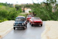Anni '60. Il sorpasso. (lumun2012) Tags: macro cars fiat models lucio automobili prospettiva anni60 mundula