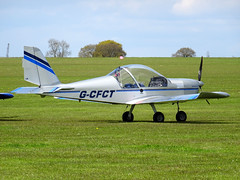 G-CFCT Cosmik Aviation EV-97 TeamEurostar UK cn 3208 Sywell 23Apr16 (kerrydavidtaylor) Tags: eurostar ev97 aerotechnik