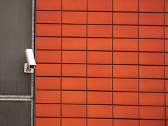 I am watching you (Lukinator) Tags: camera red wall tile grid am technology you watching fliesen technik save finepix record fujifilm tight capture ich hold kamera raster mauer gitter dich hs20 hinausschauen schauen festhalten speichern aufzeichnen raufschauen erfassen beobachte