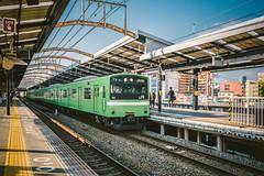 JNR 201 Series_ND611 (hans-johnson) Tags: city urban green japan train transport rail railway jr transportation transit   nippon osaka yamato kansai  nihon 201  jnr kinki    naniwa jrwest jr  shinimamiya kokutetsu   tetsudo   yamatoji   201series kansaimainline yamatojiline