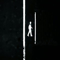 Walk the line (Luc Herman) Tags: line safety roadsign walktheline alwaysontherun betweenlines