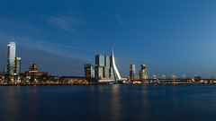 Rotterdam (Petar Stoykov) Tags: city longexposure nightphotography sunset wallpaper sky urban nature water netherlands skyline canon buildings landscape eos landscapes rotterdam cityscape colours skyscrapers sunsets nl canondslr erasmusbrug 6d demaas travelphotography derotterdam canon6d maastoren superholland rottergram