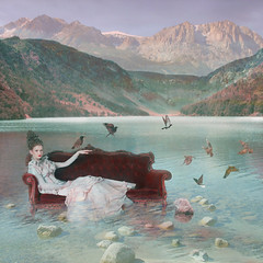 Cora ('_ellen_') Tags: sea lake mountains water clouds model hills couch cora