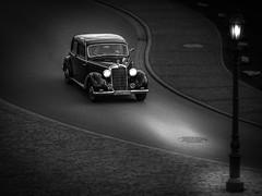 Classic Car on the street (Frank Lammel) Tags: 2016 ausflüge auto blackandwhite canon car classic sx100 schwarzweiss weilburg