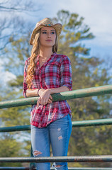 JACLYN (jlucierphoto) Tags: woman hot cute sexy girl hat outdoor country bluejeans lovelyflickr