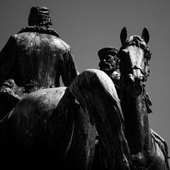 encounter (Rustybricko) Tags: horses monochrome statue bronze tuscany garibaldi fiesole canoneos5dmarkiii theencounterofteano kingvittoriemanueleii