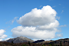 Cloudy mountain (Cumberland Patriot) Tags: park blue sky cloud mountain lake mountains english station clouds landscape boot district hill peak hills national cumbria fells land peaks range fell cumberland rer cumbrian dalegarth