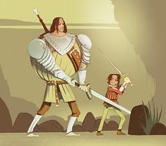 the Hound and Arya (Alon Richter) Tags: game hound arya stark thrones