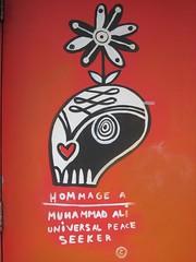 Provoke Peace (Hommage to Muhammad Ali) (Quevillon) Tags: canada art mural montral qubec muhammadali cassiusclay howardpark parkextension carlitodalceggio villeraysaintmichelparcextension provokepeace