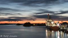 Twilight (rjonsen) Tags: sunset sky boat twilight waves ship vessel seven haugesund