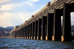 The Tay Rail Bridge from Wormit, Fife (iancowe) Tags: bridge sunset river evening scotland angle fife dundee wide scottish engineering rail railway tay girders girder tayrailbridge wormit
