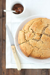 Torta alla crema di marroni, mandorle e cioccolato bianco (senza zuccheri aggiunti) (Zucchero e Zenzero) Tags: cake breakfast comfort torta colazione foodblog