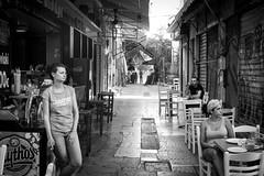 The break (blue-bird3) Tags: cafe break cigarette athens smoking waitress
