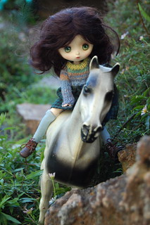 Elodie rides in the mountains