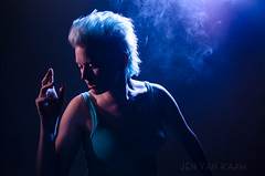 self portrait (jenvankaam) Tags: blue portrait self hair jen smoke mohawk van kaam