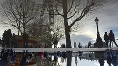 upsidedown (Giramund) Tags: reflection london eye puddle southbank