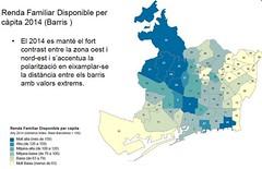 Renda Familiar disponible per càpita per barris de Barcelona any 2014 (CGT Catalunya) Tags: barcelona de any per barris familiar renda 2014 disponible càpita