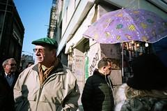 (David Chee) Tags: street nyc newyork film bar analog umbrella canal chinatown lafayette perfume kodak portra ricoh 160 gr21