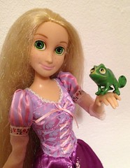 Pascal and Rapunzel (Irina^_^) Tags: pet sidekick doll princess parks disney pascal chameleon rapunzel disneystore 2010 tangled
