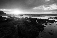 Flinders - The Blowhole (Billie_1209) Tags: sea blackandwhite bw seascape rock clouds sunrise landscape dawn nikon long exposure blowhole morningtonpeninsula flinders d800