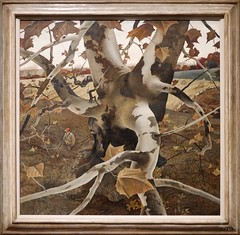 The Hunter by Andrew Wyeth 1943. Toledo Museum of Art. Denver Art Museum, Andrew and Jamie Wyeth in the Studio (Travel to Eat) Tags: tree wyeth hunter andrewwyeth
