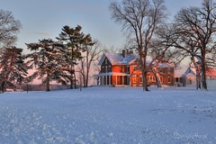 Winter Evening Neighbor (david.horst.7) Tags: winter snow rural landscape farm