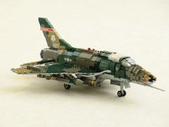 184th FS 'Razorbacks' F-100D Super Sabre (Mad physicist) Tags: lego aircraft usaf 136 f100d supersabre centuryfighter
