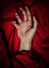 7/365 - The Hand (goran1101) Tags: red abstract 35mm blood nikon hand fineart silk bloodred project365 d5100